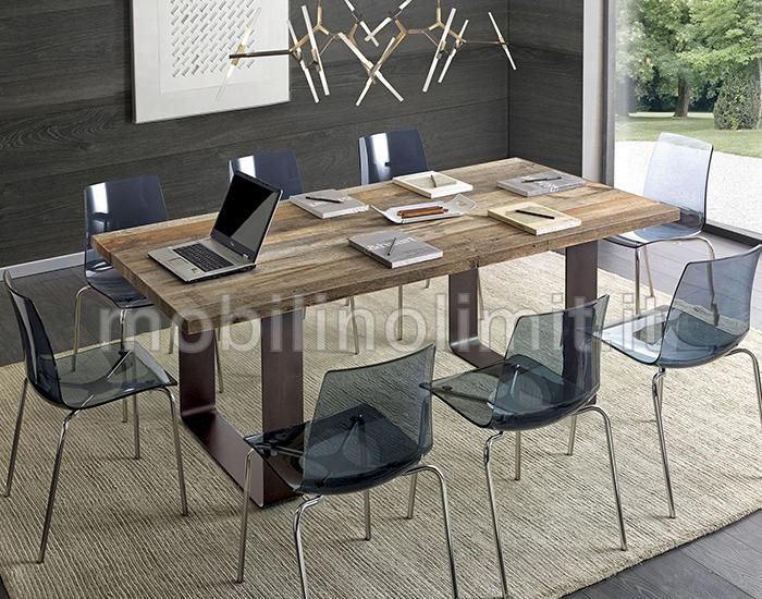 Tavolo Stile Industriale : Tavolo da pranzo o salotto in stile industrial h cm in