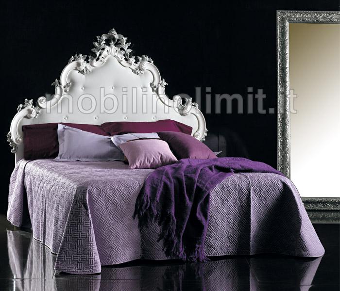 Testata letto matrimoniale intagliata grezzo for Camere da letto basso costo