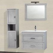 composizione mobile bagno sospeso 2 cassettoni grigio perla 80 cm