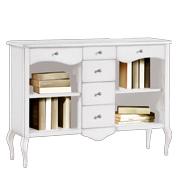Librerie in arte povera industrial e classiche in legno for Vetrinetta bassa arte povera