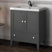 mobile bagno grigio con lavabo serie toscana l70
