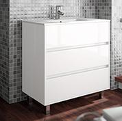 Mobile bagno moderno con lavabo L. 80 - Grigio Opaco