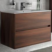 mobile bagno moderno con lavabo l80 acacia marrone