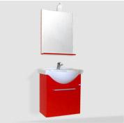 mobile bagno sospeso rosso carminio
