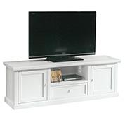 Porta tv 2 ante 1 cassetto bianco decapato - Porta tv arte povera mondo convenienza ...