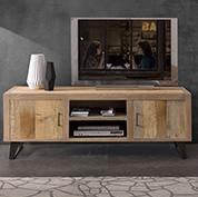Porta televisori in arte povera classici e moderni - Mobile tv stile industriale ...