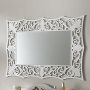 Mobili in stile contemporaneo acquista online - Specchio cornice bianca ...