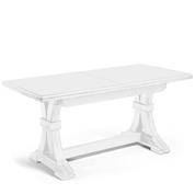Tavolo Allungabile Legno Arte Povera.Tavolo Allungabile Bianco Opaco 160x85