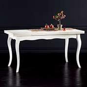 Tavolo allungabile 160x85 shabby chic - Tavolo bianco anticato ...