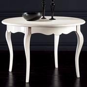 Tavolo Rotondo Allungabile (120) - Bianco Anticato